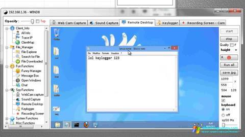 Скриншот программы Remote Administration Tool для Windows 7