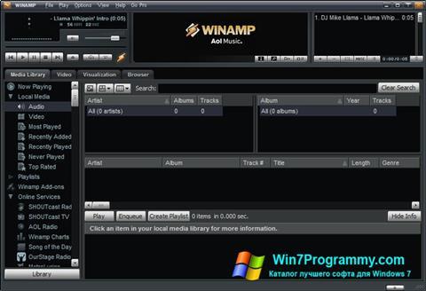 Скриншот программы Winamp Pro для Windows 7