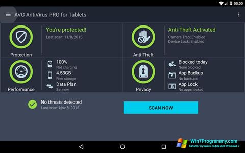 Скриншот программы AVG AntiVirus Pro для Windows 7
