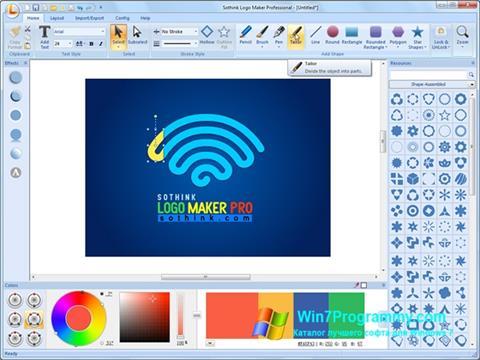 Скриншот программы Sothink Logo Maker для Windows 7