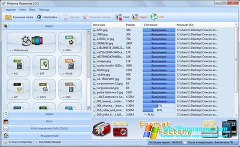 Скриншот программы Format Factory для Windows 7