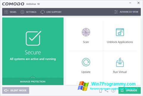 Скриншот программы Comodo Antivirus для Windows 7