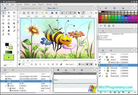 Скриншот программы Synfig Studio для Windows 7